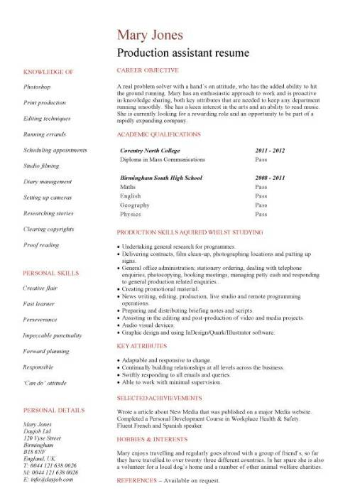 11 Student Resume Samples No Experience | Resume | Pinterest