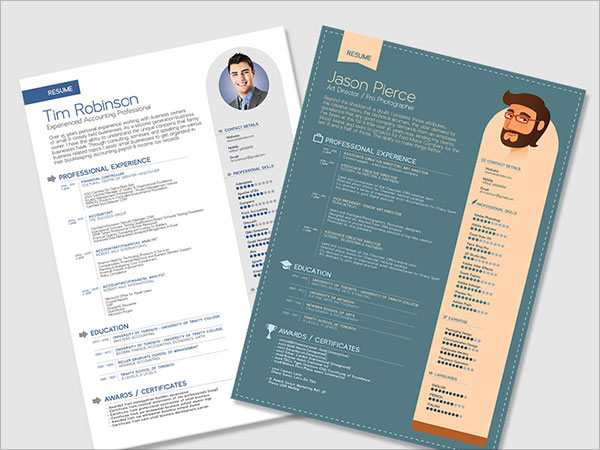 Word Resume Template. Elegant Resume Template (Word, Psd) More