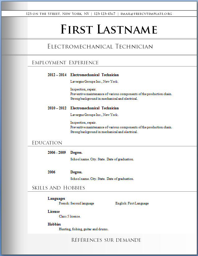 resume templates word free download free cv templates 72 to 78