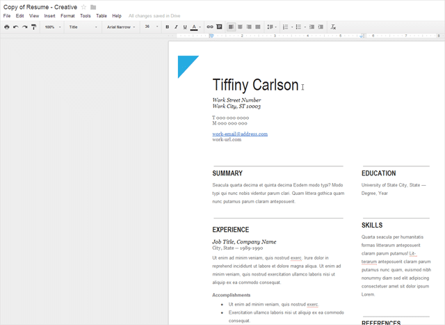 resume templates for google docs how to create professional