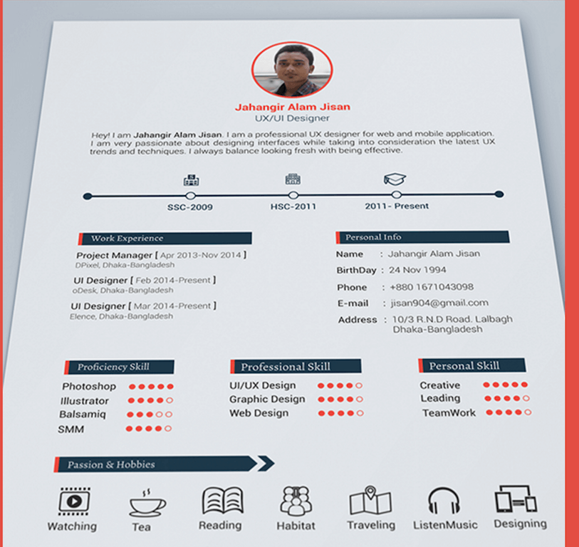Top 27 Best Free Resume Templates PSD & AI 2017 Colorlib