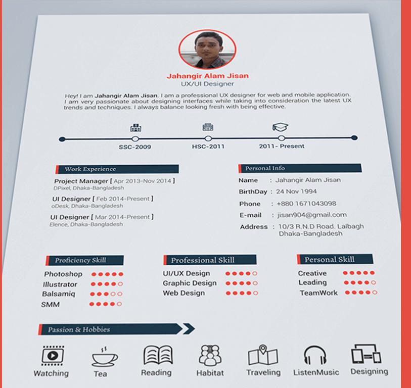 Top 27 Best Free Resume Templates PSD & AI 2017 Colorlib