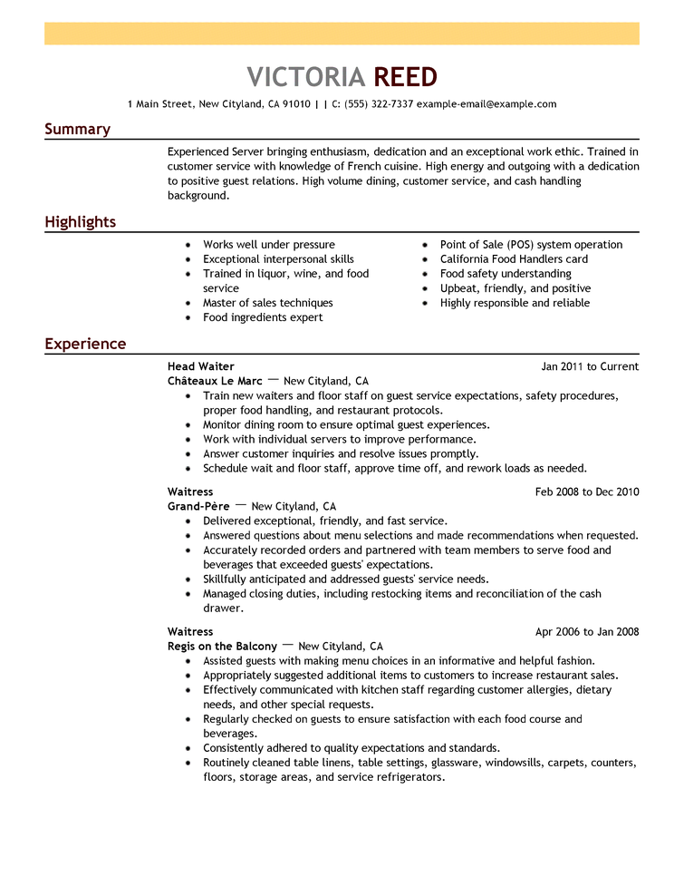 sample resume format  u2013 task list templates