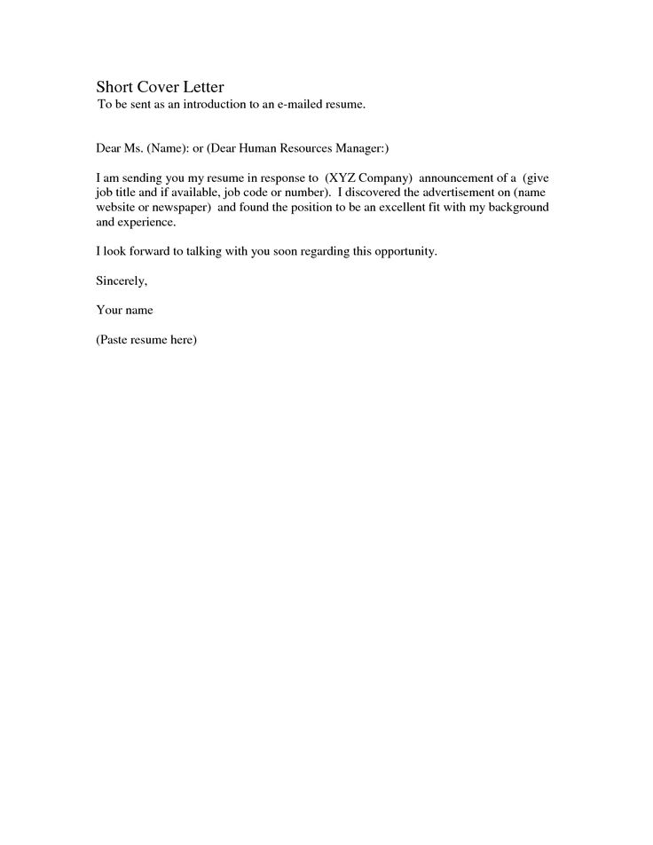 Awesome Short Simple Cover Letter 15 In Doc Cover Letter Template