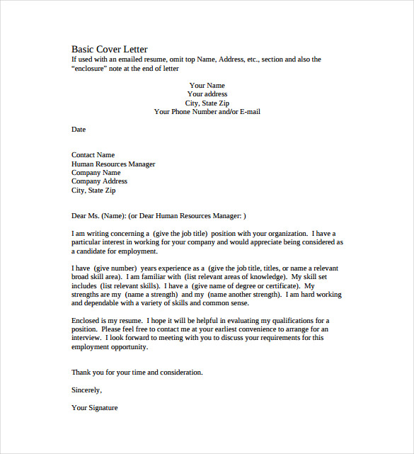 SIMPLE COVER LETTER Easy Template PixSimple Cover Letter