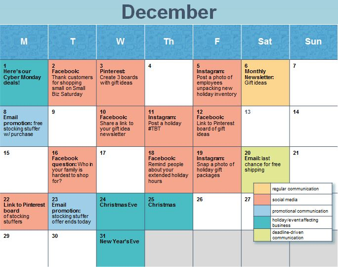 Corporate Calendar Theme Ideas : Social media calendar ideas task list templates