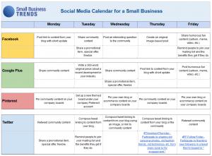 Social Media Content Calendar Template Excel | Social media