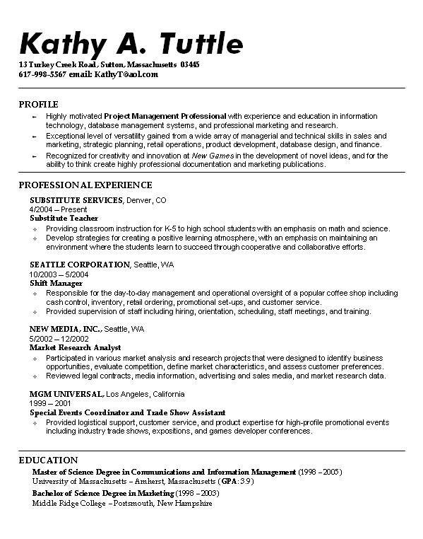 32 best Resume Example images on Pinterest | Sample resume, Resume