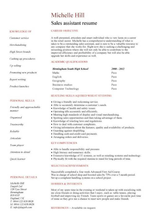 Student CV template samples, student jobs, graduate cv