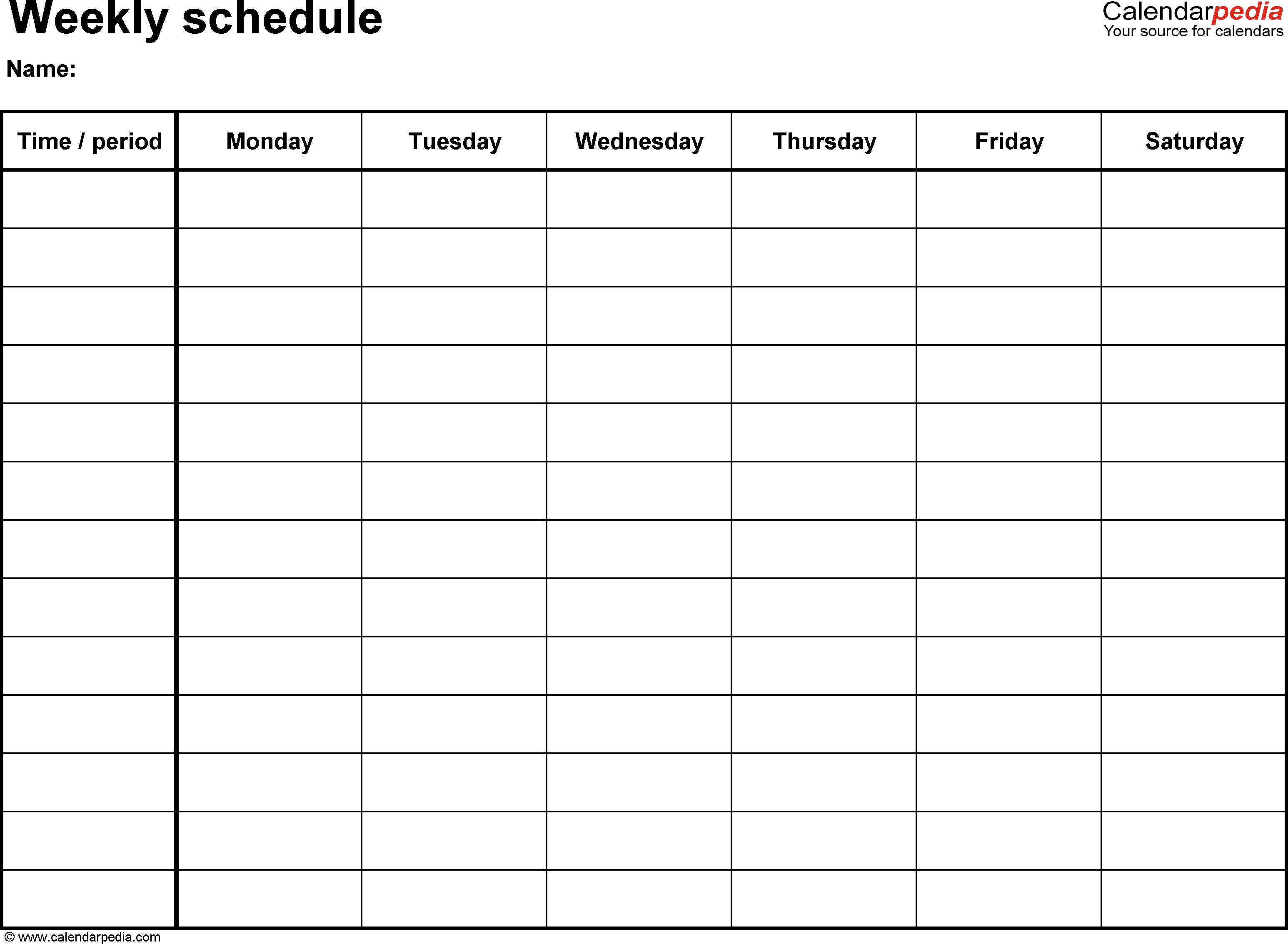 Free Printable Irma Weekly Planner Portrait by Eliza Ellis The