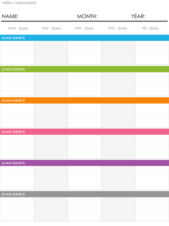 Weekly Schedule Template Free Schedule Makers