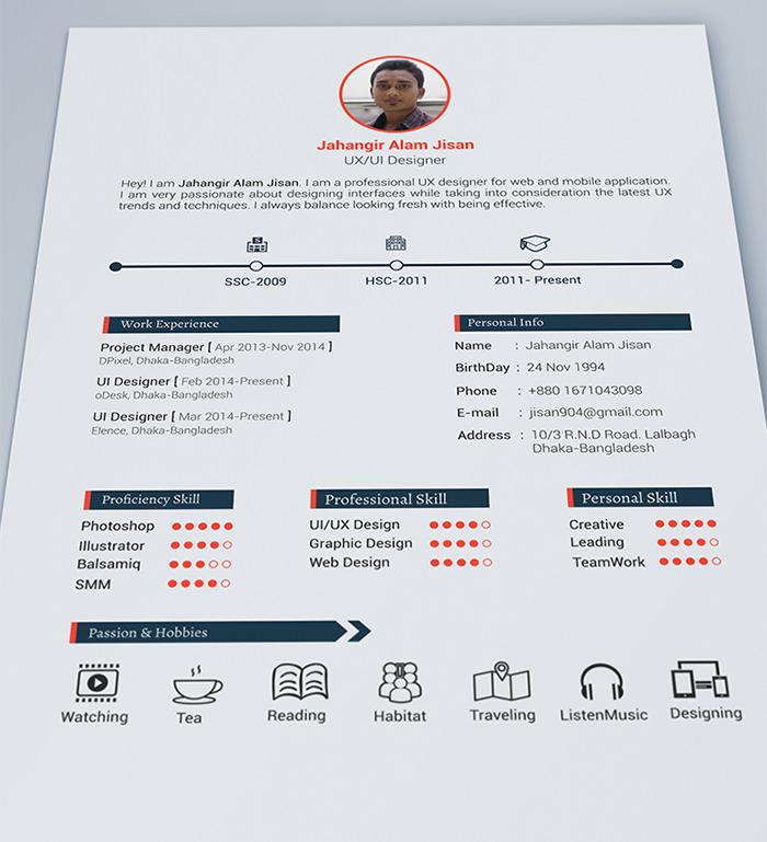 30 Free & Beautiful Resume Templates To Download Hongkiat