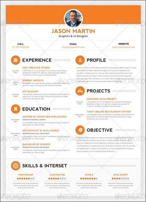 pretty resume templates 30 free beautiful resume templates to