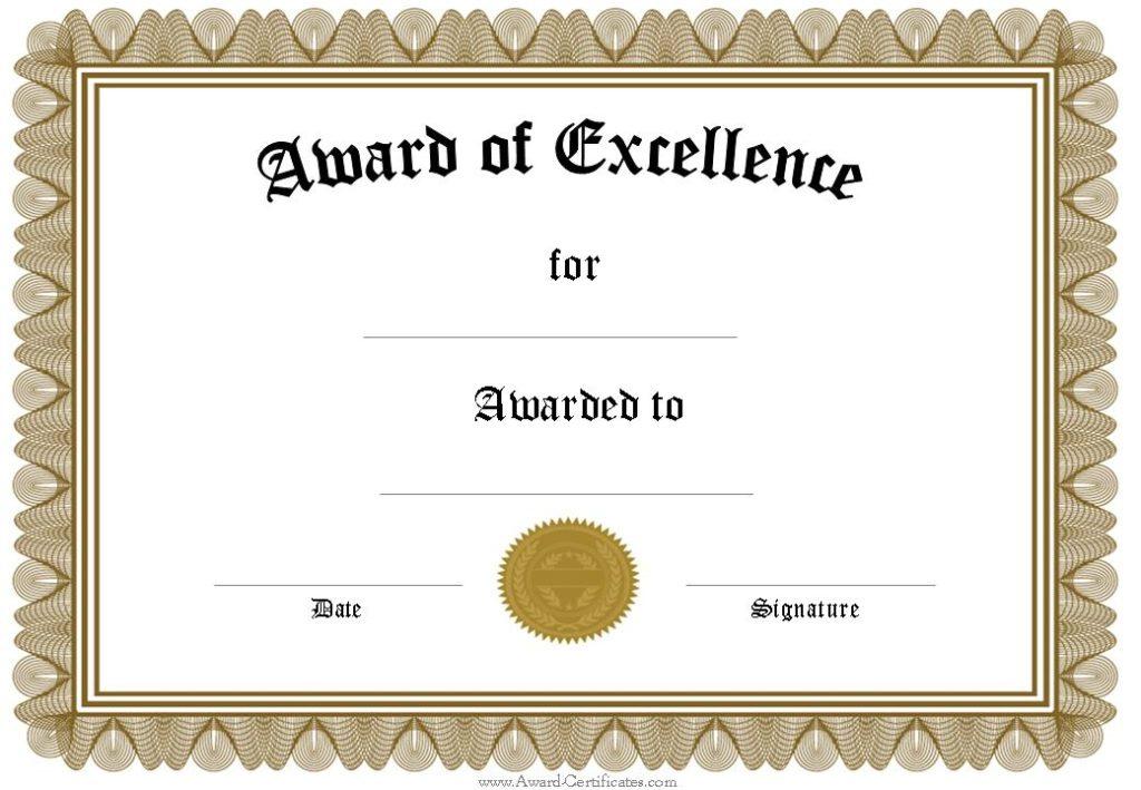 5 Award Certificates Templates | Certificate Templates