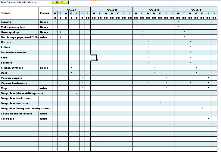 Cleaning Checklist Template Excel Task List Templates