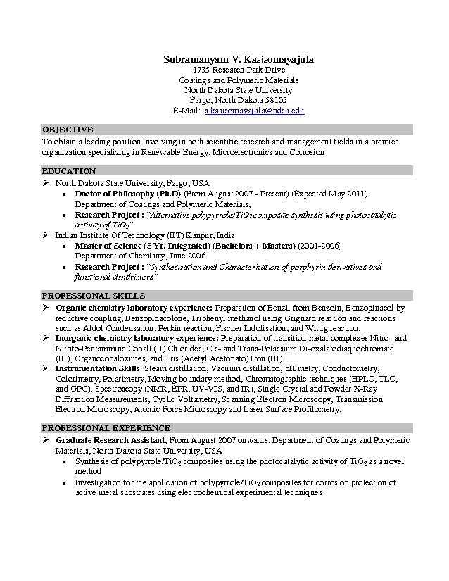 Sample Resumes For Internships For College Students | Free Resumes