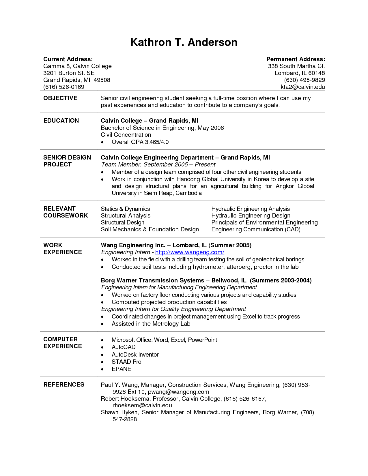 Spectacular Inspiration College Graduate Resume Sample 14 Current
