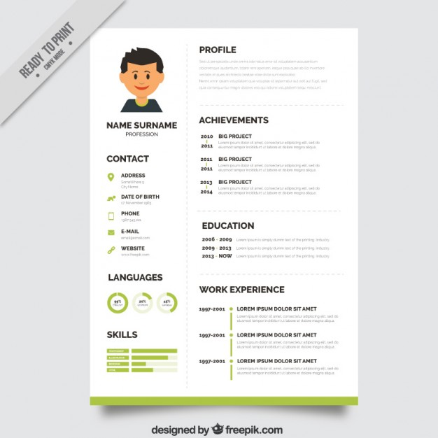 Editable cv format download PSD file | Free Download | CV TEMPLATE