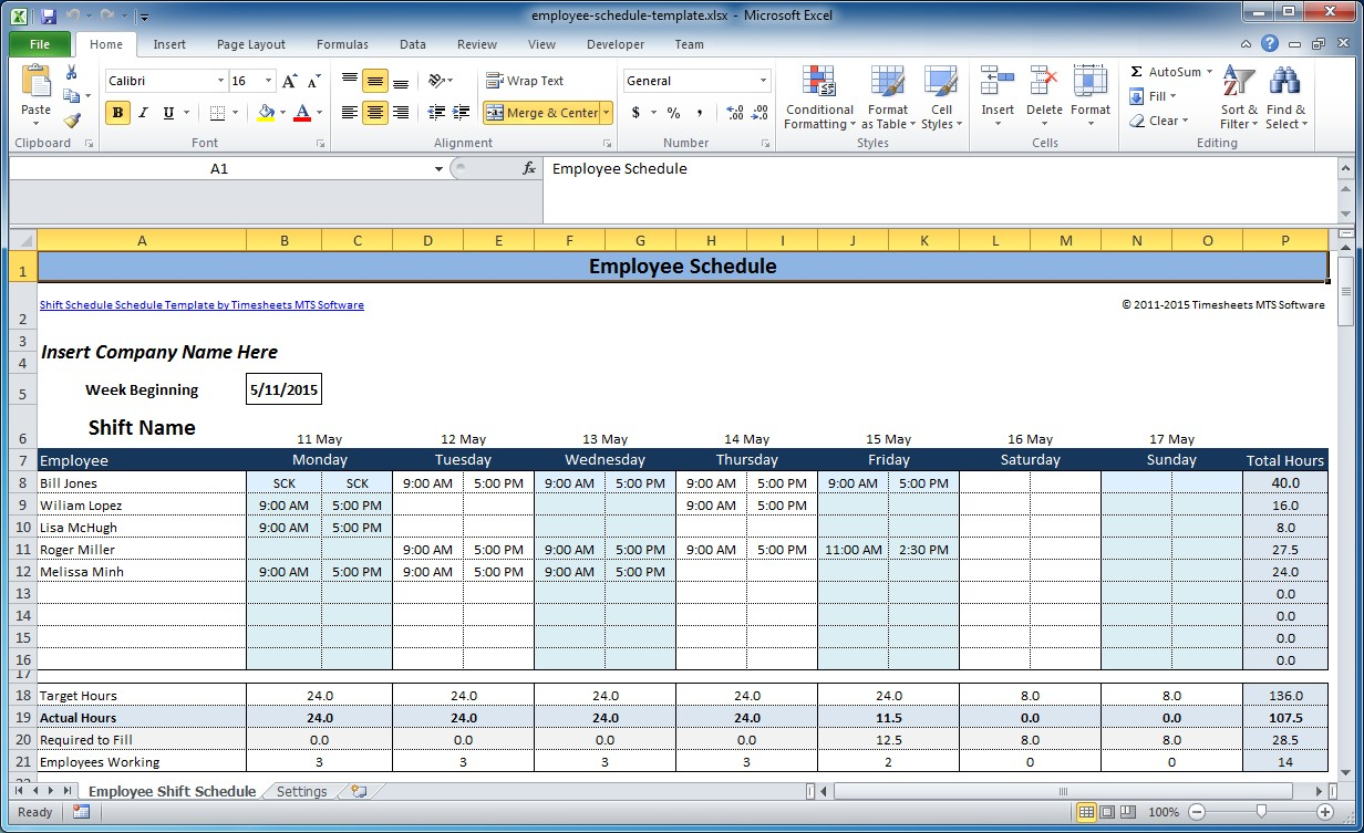 Shift Schedule Template. 8 Hour Rotating Shift Schedules Examples