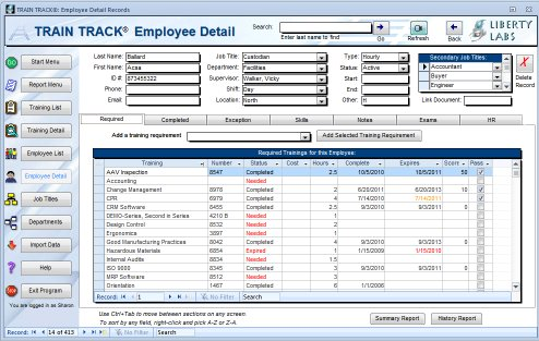 Employee Record Templates PDF Documents