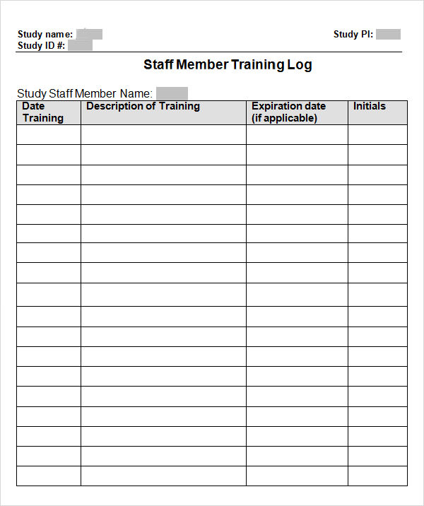 Employee Training Record