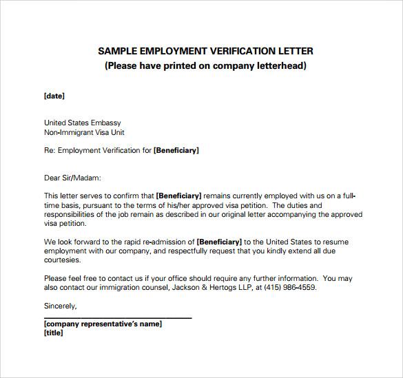 Employment verification letter template word task list ramakntro employment verification letter template word task list spiritdancerdesigns Choice Image