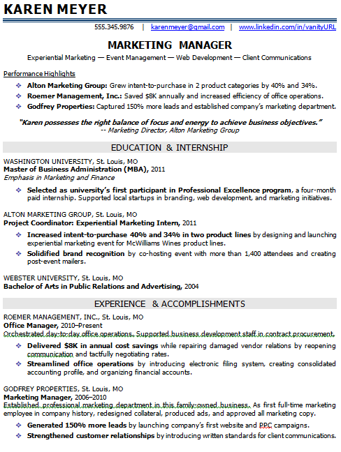 Entry Level Marketing Resume Task List Templates