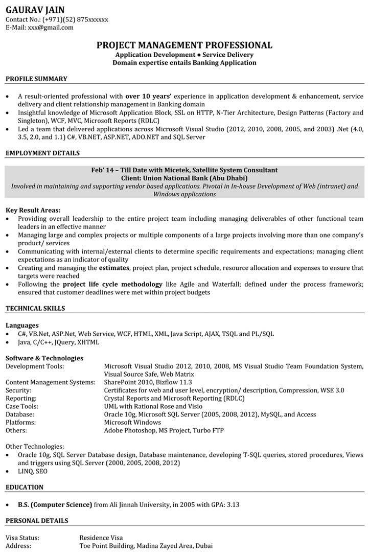 Software Engineer Resume Samples | Sample Resume for Software