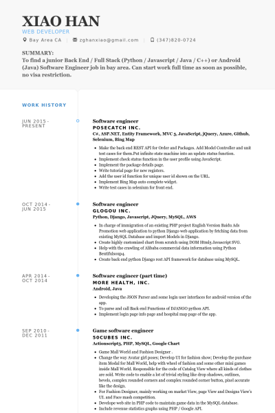 Software Developer Resume Template. Java Spring Developer Resume