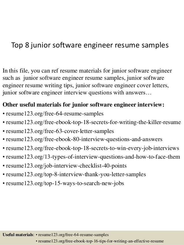 top 8 junior software engineer