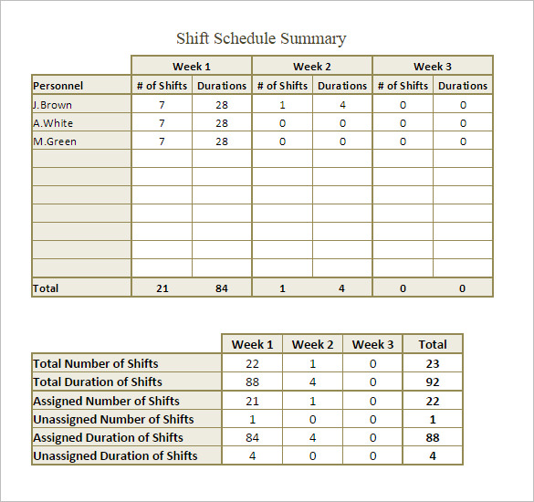 monthly employee shift schedule template task list templates. Black Bedroom Furniture Sets. Home Design Ideas