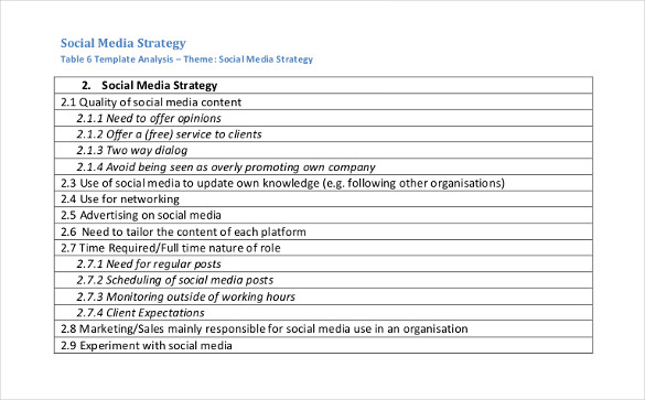DR4WARD: What Does A Simple Social Media Strategy Template Look