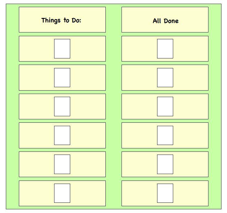 Visual Schedule Maker Task List Templates