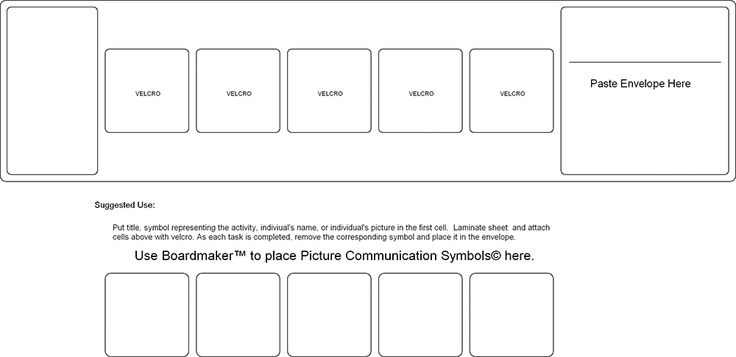 Daily Visual Schedule Template – Printable Editable Blank