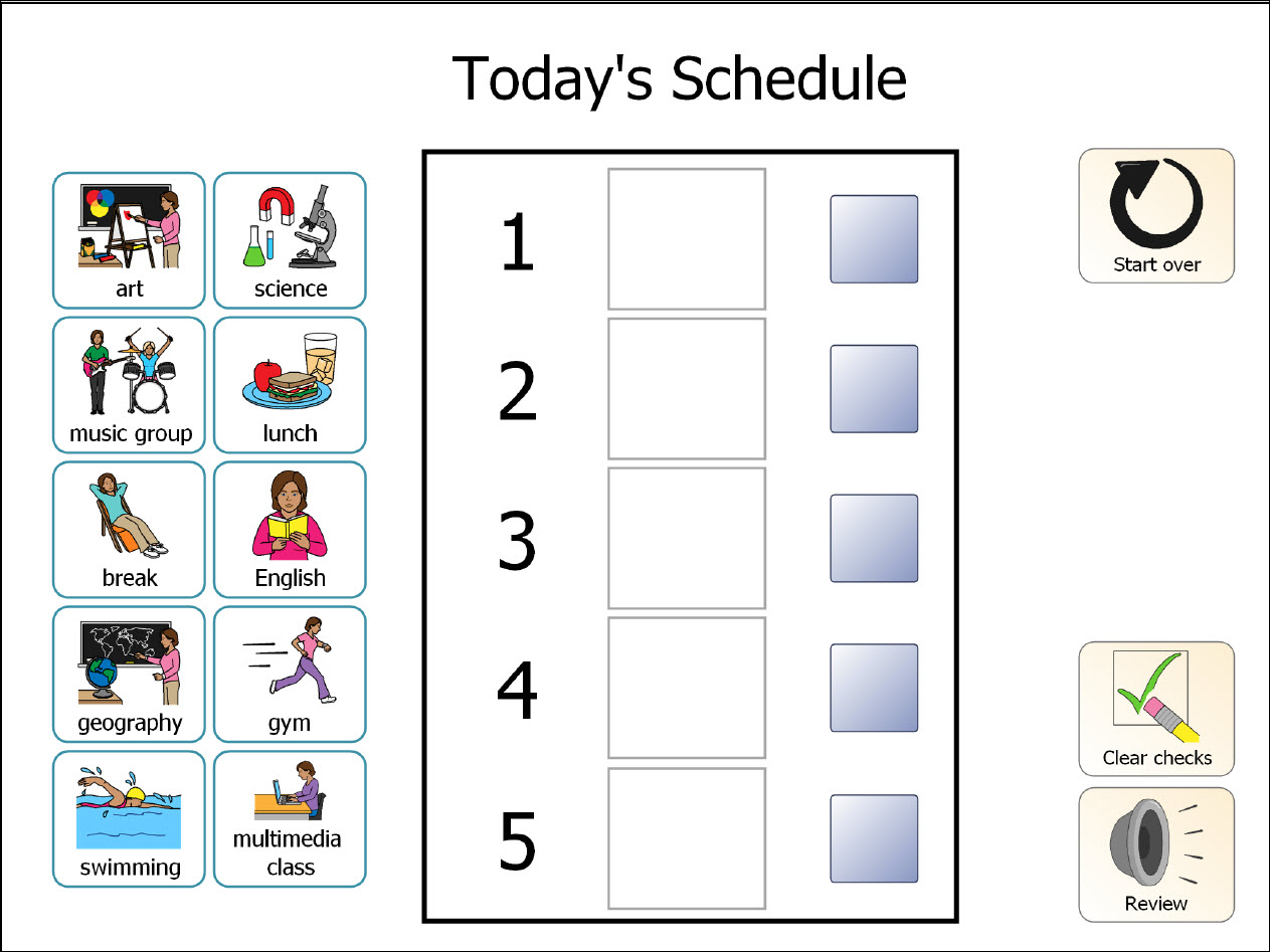 daily classroom schedule template