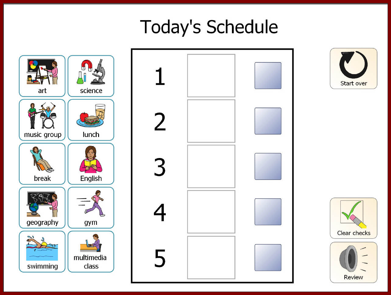 photo regarding Visual Schedule Printable named Visible Program Template activity checklist templates