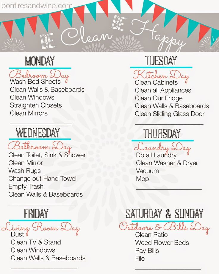 Crafty image in free printable cleaning schedule template