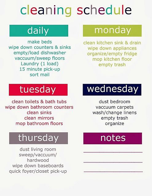 The Best Free Printable Cleaning Checklists | Binder, Cleaning