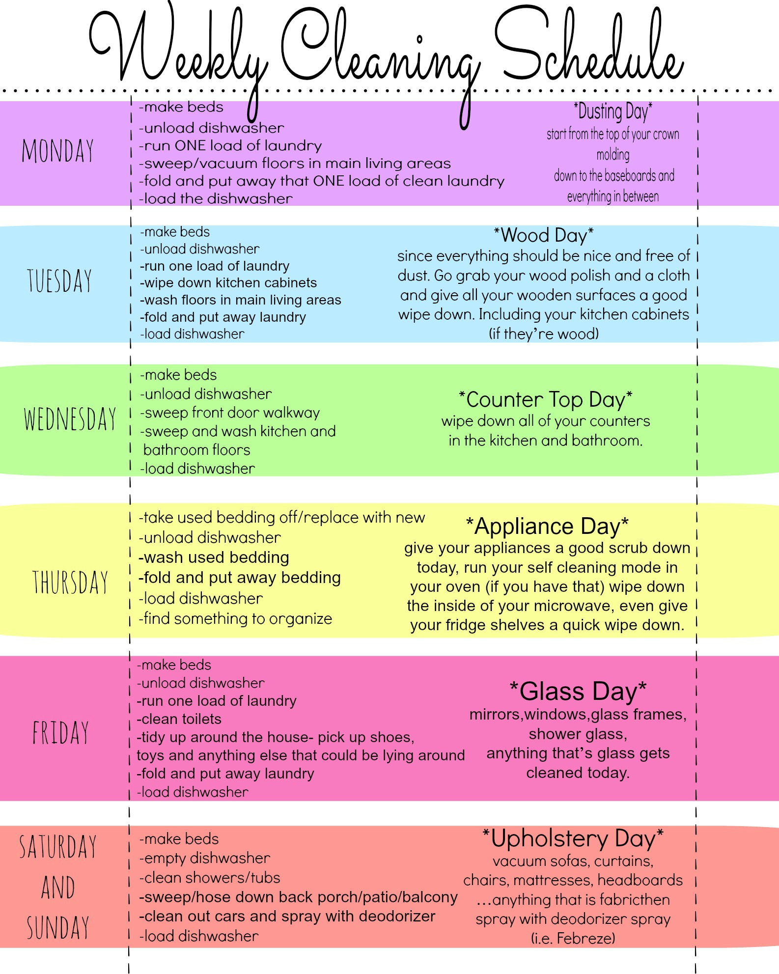 Get 20+ Cleaning schedule printable ideas on Pinterest without