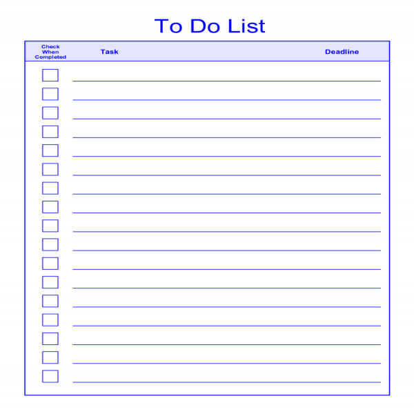 Template for to do listto do list template pinterest task for Time management to do list template