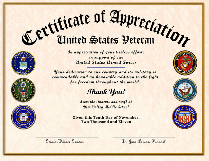 Certificate Of Appreciation Wording | task list templates