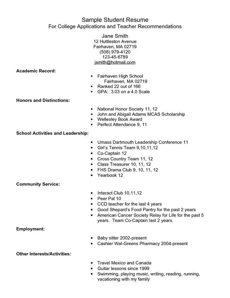 Resume for b school admission