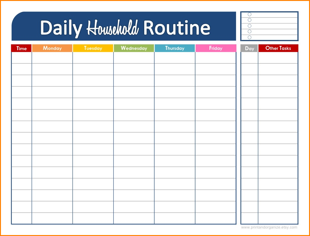 daily schedule maker  u2013 task list templates