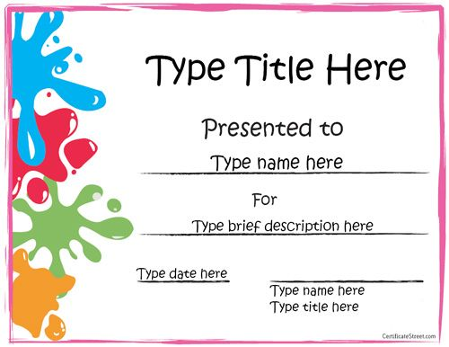 Editable Certificate Template - task list templates