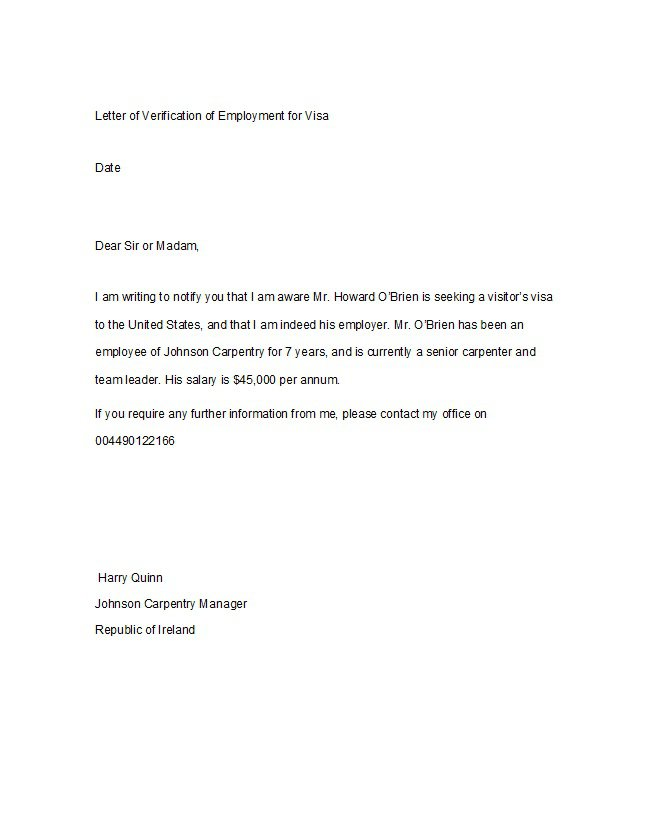 Employment Confirmation Letter Template Doc