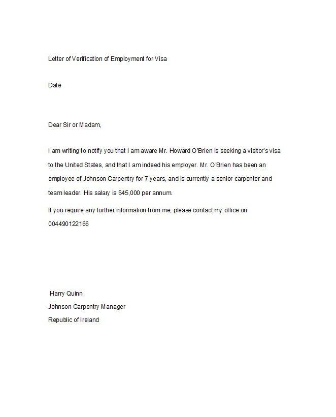 Employment Confirmation Letter Template Doc
