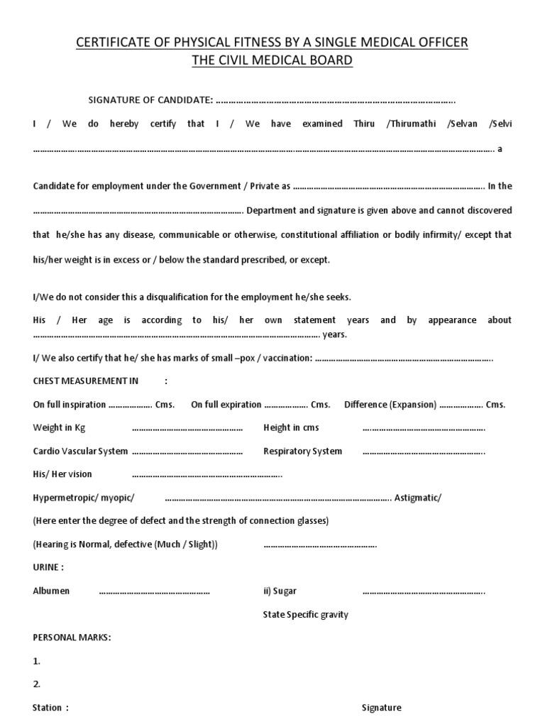 Medical Certificate Format For Job - task list templates
