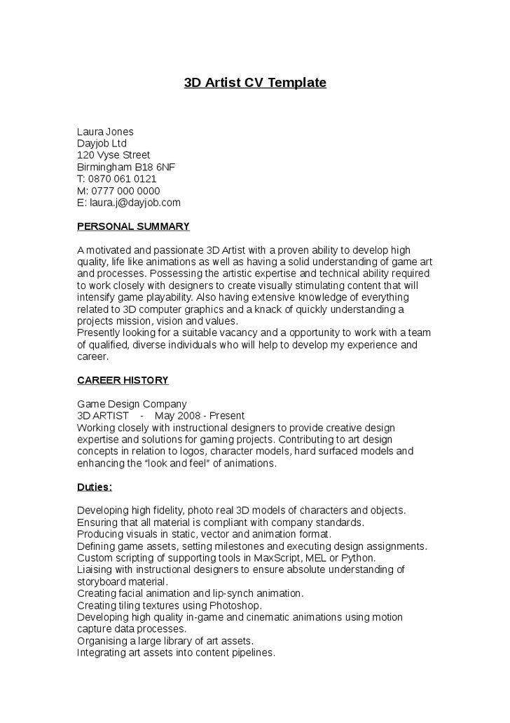 Teenage Resume Template Task List Templates