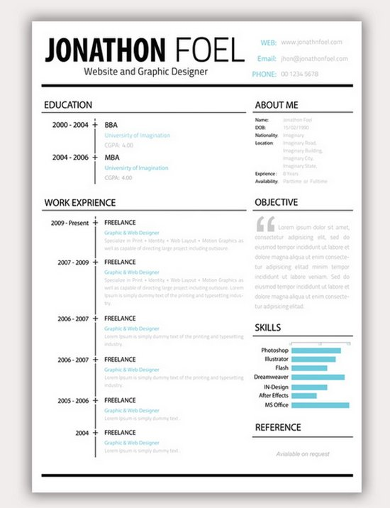 Beautiful resume templates free task list templates for Attractive resume templates free download