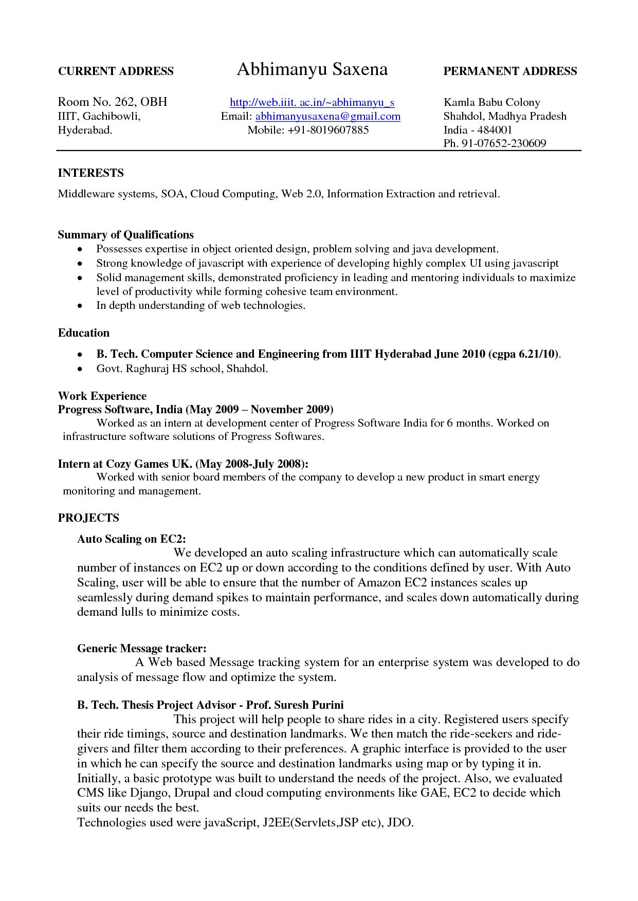 google resume examples